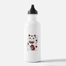 White Maneki Neko Water Bottle