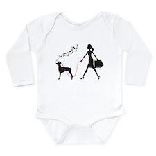 Doberman Pinscher Long Sleeve Infant Bodysuit