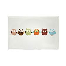 Owls Rectangle Magnet