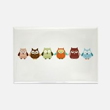 Owls Rectangle Magnet