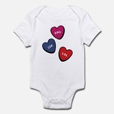 Text Me Candy Hearts Infant Bodysuit