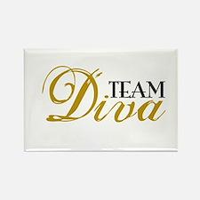 Team Diva Rectangle Magnet