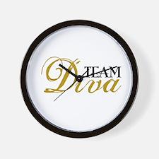 Team Diva Wall Clock