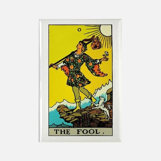 The Fool Tarot Card Rectangle Magnet