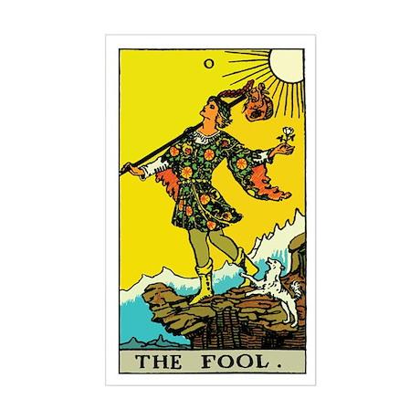The Fool Tarot Card Sticker (Rectangle)