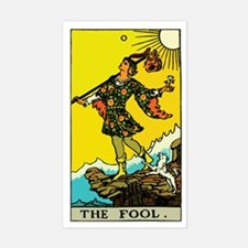 The Fool Tarot Card Sticker (Rectangle)