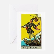 The Fool Tarot Card Greeting Card