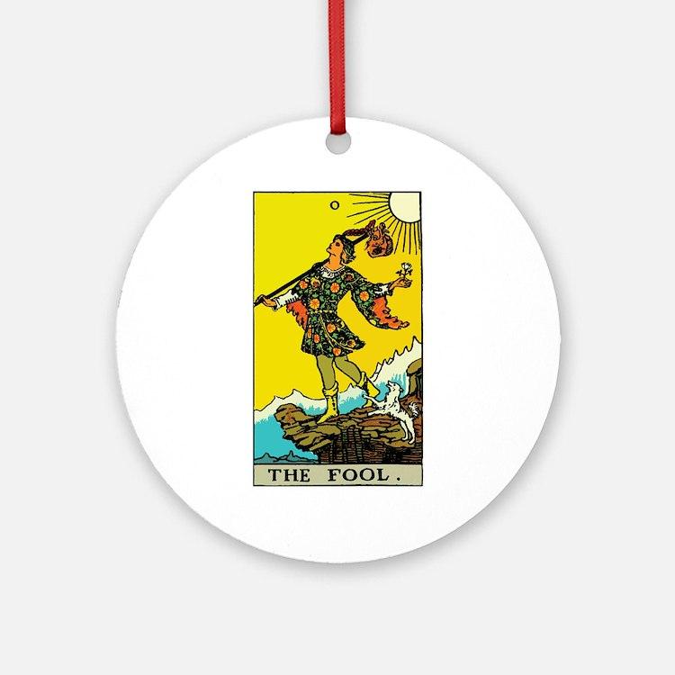 The Fool Tarot Card Ornament (Round)