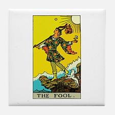 The Fool Tarot Card Tile Coaster