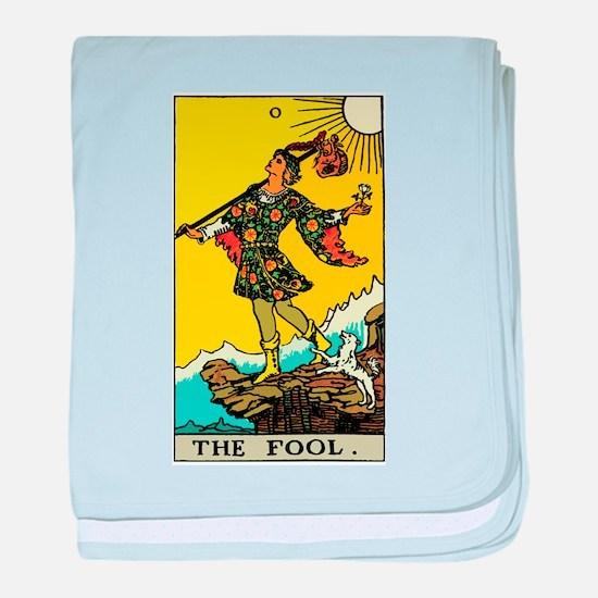 The Fool Tarot Card baby blanket
