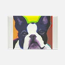 Black & White French Bulldog Rectangle Magnet