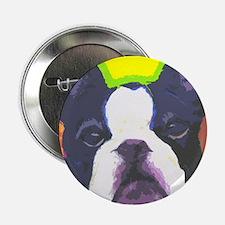 "Black & White French Bulldog 2.25"" Button"
