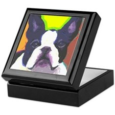Black & White French Bulldog Keepsake Box