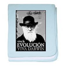 Viva Darwin Evolucion baby blanket