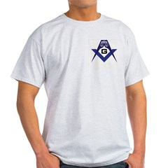 Masonic Scales of Justice Ash Grey T-Shirt