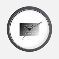 Cute The perfect world Wall Clock