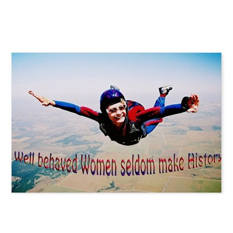 Well behaved Women seldom Mak Postcards (Package o