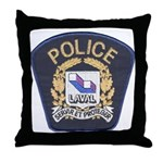 Laval Quebec Police Throw Pillow