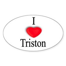 Triston Oval Decal