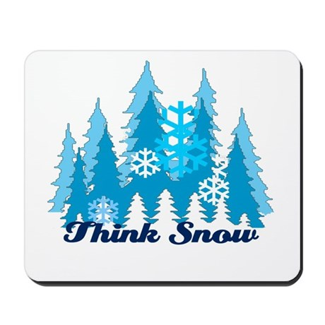 Think Snow Mousepad