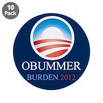 """Obummer Burden 3.5"""" Button (10 pack)"""