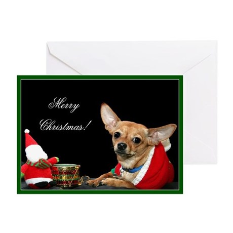 Merry Christmas Chihuahua Greeting Cards (Pk of 10