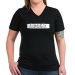 Faith Women's V-Neck Dark T-Shirt