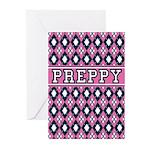 Pink Argyle Preppy Greeting Cards (Pk of 10)
