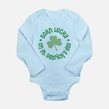 St. Patrick's Day Birthday Long Sleeve Infant Body