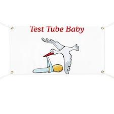 Test Tube Baby Stork Banner