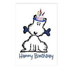 Dog Birthday Postcards (Package of 8)