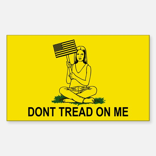 Dont Stomp On My Head Sticker (Rectangle)