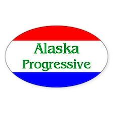Alaska Progressive Oval Decal