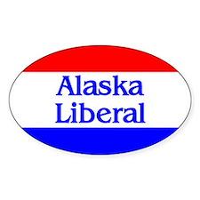 Alaska Liberal Oval Decal