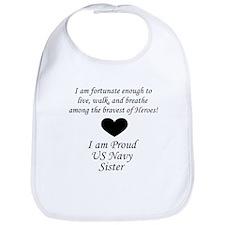 Navy Sister Fortunate Bib