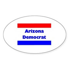 Arizona Democrat Oval Decal