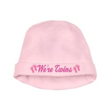 Twin Girl Pink Baby Beanie Hat