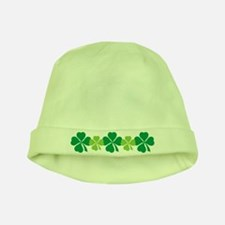 Green Irish Lucky Four Leaf Clover Baby Hat