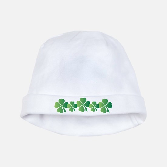 St Patricks Day Irish Clover Baby Beanie Hat