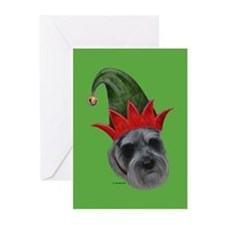 Mini Schnauzer Xmas Greeting Cards (Pk of 20)