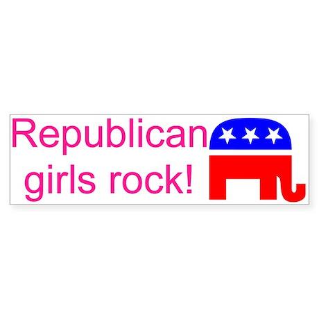 Republican Grils Rock Bumper Sticker
