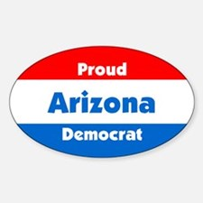 Proud Arizona Democrat Oval Decal
