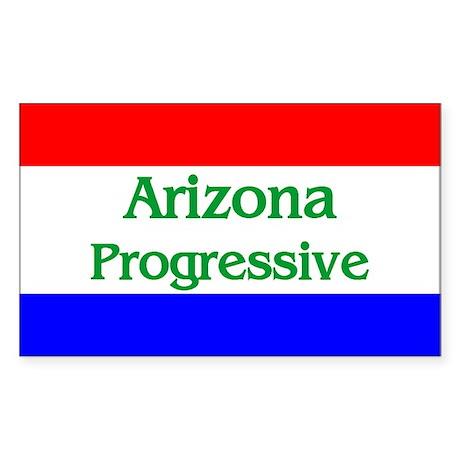 Arizona Progressive Rectangle Sticker