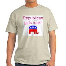 Republican Grils Rock Ash Grey T-Shirt