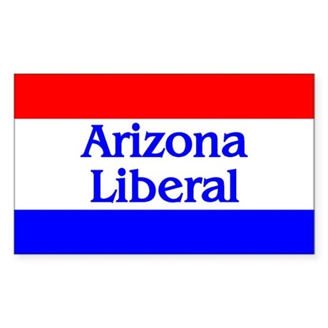 Arizona Liberal Rectangle Sticker