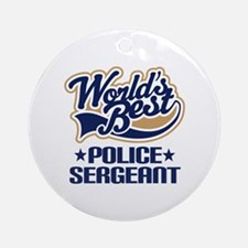 Police Sergeant Ornament (Round)