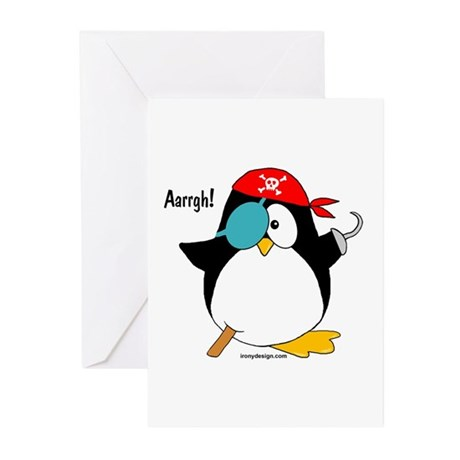 Pirate Penguin Greeting Cards (Pk of 10)