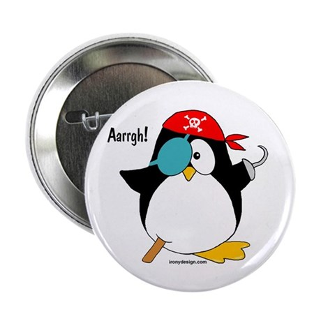 "Pirate Penguin 2.25"" Button (100 pack)"