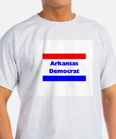 Arkansas Democrat Ash Grey T-Shirt
