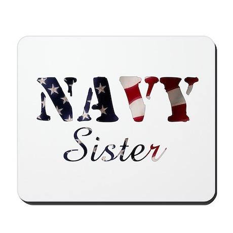 Navy Sister Flag Mousepad